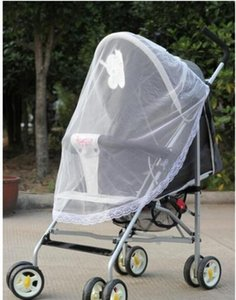 Wholesale Hot Selling Baby Car Mosquito Mesh Dome Baby strollers Lace Mosquito Net Curtain Net for Toddler Crib Cot Canopy For Trolley