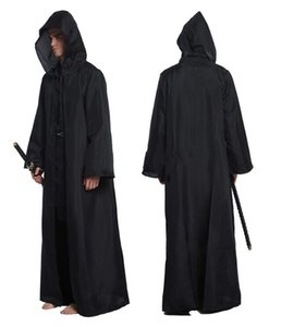 Wholesale Cos Jedi Knight cloak men cosplay costumes adult halloween costume cape performance robe costumes men
