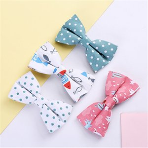 Wholesale 2018 Man Tie Formal Cotton Vintage Animal Print Bow Tie Butterfly Boy Bow Tie Tuxedo Bows Groom Prom Wedding Party Accessories