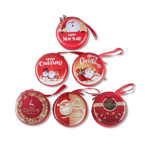 Wholesale 22 Design Christmas Coin Purse Mini Wallet Portable Waterproof Cute Purse Candy Key Pouch Bag Headset Case Christmas Tree Ornament
