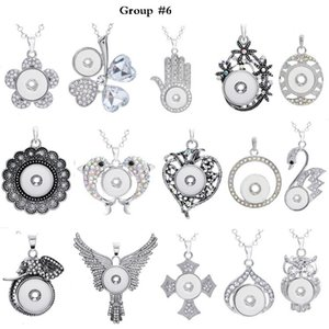 Wholesale 12 Group Noosa Assorted Ginger mm Snap Buttons Chunk Charms Crystal Heart Round Animal Multi Pendant Necklaces Snap Jewelry