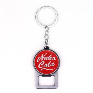 Fallout 4 Nuka Cola Cap Creative Metal bottle opener keychains Pip Boy Nuka Cola Fallout 4 Cosplay keychain