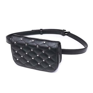 Casual Multifunction Black Belt Bags 2018 New Arrival Women's Purse PU Leather Shoulder Bags Fashion Waist