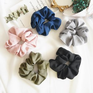 Women Girls Pure Color Cloth Elastic Ring Hair Ties Accessories Ponytail Holder Hairbands Rubber Band Scrunchies