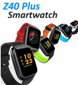 Wholesale Z40 Plus IPS color screen smart heart rate bracelet mAh high power polymer battery IPS Smart Wristbands for iphone Android DHL