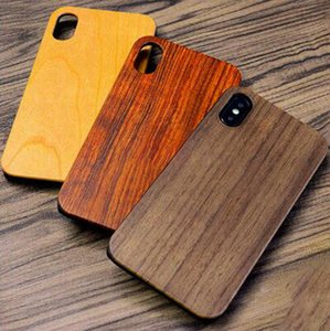 Wholesale Wood Case Manufacturer Price For iphone Mobile plus X S S High Quality Real Wooden Bamboo Plain Cases For Samsung Accessories