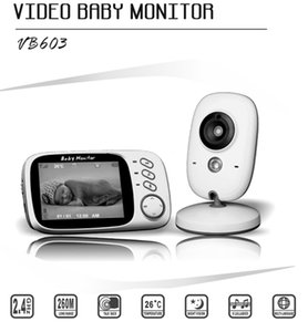 Wholesale 2018 Best Inch LCD Display VB603 Night Vision Wireless Baby Monitor Camera Way Audio Temperature Monitor Video Baby Monitor