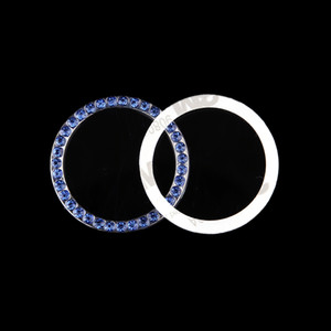 Wholesale 1 Fashion SUV Bling Practical Car Decorative Blue Button Start Switch Diamond Ring Auto Accessories