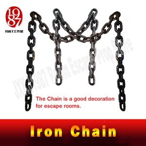 New decoration for escape rooms Iron Chain Plastic chain cosplay game real life room escape prop TAKAGISM Adventurer chamber