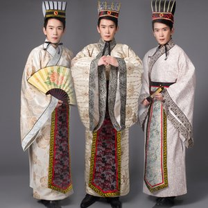 Wholesale Chinese national hanfu black red ancient china costume hanfu men clothing Traditional National Tang Suit stage Cosplay Costumes