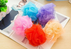 Wholesale Bath Shower Pouf Bath Pouf Shower Sponge Exfoliating Cleanse Soothe Skin Loofah Luffa Body Mesh Body Scrubber Bath Pouf