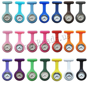 Wholesale new nurse watches resale online - New Nurses Watches Doctor portable Fob Watch Brooches Silicone Tunic Batteries Nurse Watch Quartz with Clip