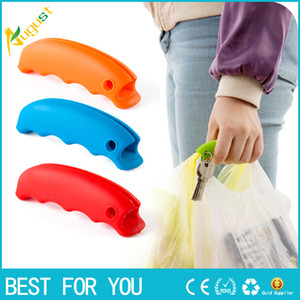 Wholesale Silicone Hooks For Hanging Handbag Basket Shopping Bag Holder Carry Bag Handle Comfortable Grip Protect Hand Tools Random Color