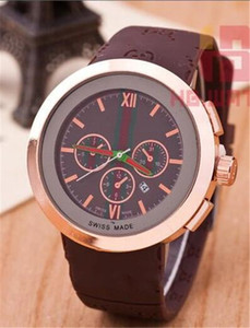 Top Men Quartz Watch Fashion men and women Watches Sport Date high quality Wristwatches top design Nice clock rubber band