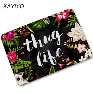 Wholesale KAYIYO Rubber Doormat For Entrance Door Floor Mat Welcome Beautiful Flower Funny Door Mat Indoor Outdoor Decorative Doormat