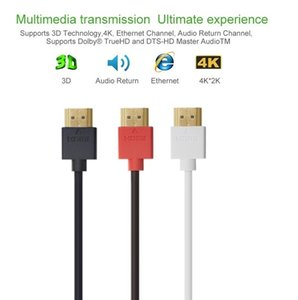 Wholesale High Speed HDMI Cable Ultra HD k x k Slim HDMI Cable with Ethernet HD TV s HDMI Cable Audio Video Gold Plated