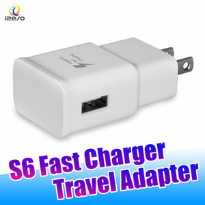 Wholesale 5V A Quick Charging Adapter High Speed Fast Travel Charger Universal USB Wall Direct Chargers US Plug EU Plugs for Galaxy S6 S9