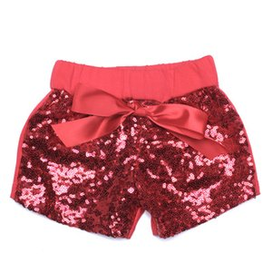 Baby Girls Sequins Shorts Pants Casual Pants Fashion Infant Glitter Bling Dance Boutique Bow Princess Shorts Kids Clothes 14 color KTS05 on Sale