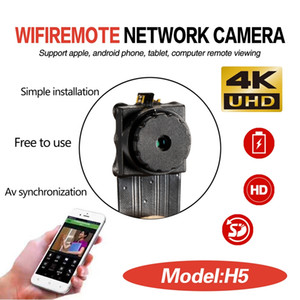 Wholesale 4K Ultra-HD WIFI Mini module IP Camera wireless P2P DIY Module Pinhole Camera button Mini DV DVR home Security Surveillance CCTV Camcorder