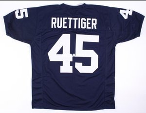 Men V neck Rudy Ruettiger #45 Rudy Movie Navy Blue Retro College Jersey size s-4XL or custom any name or number jersey