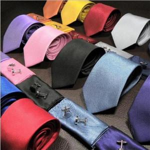 men neck tie set pocket square sleeve button hanky neckwear and handkerchief set necktie cuff link