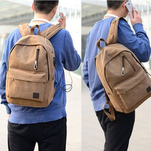 Bag Canvas Men's Vintage Backpack Rucksack Laptop Shoulder Travel Bag