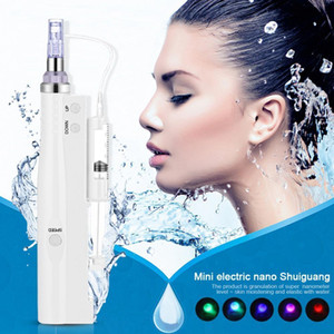 Wholesale 2 in Derma Pen Mesotherapy Gun Microneedle Therapy Vacuum Water Meso Injector Anti Aging Facial Skin Care Beauty Machine