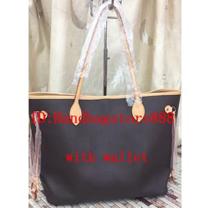 d95dc838402 2pcs set high qulity classic Designer womens handbags flower ladies  composite tote PU leather clutch shoulder bags female purse with wallet