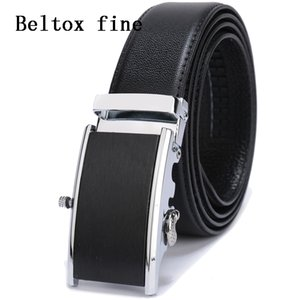 Wholesale Add perfume Automatic Buckle Leather Belt Men Ratchet Belt New Designer Fashon Big and Tall Ceinture