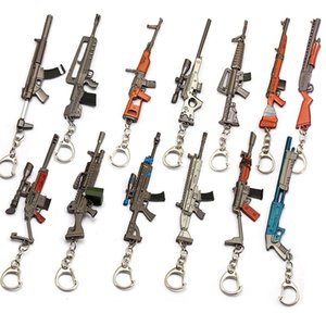 Fort nite Gun Keychain Toy Battle metal Action Figure From Scar Rifle Fortnite Weapon Pickaxe Keychain 12-13cm kids toys