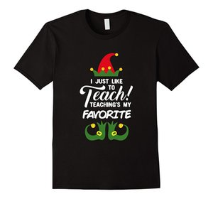 Wholesale Teaching s My Favorite T Shirt Funny Elf Teacher Pajama Gift Men Casual Short Sleeve T Shirts Men S T Shirt Newest