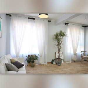 Minimalism Ventilation Window Screening Modern Style Pure Color White Yarn Linen Sheer Curtains Home Decor High Grade 20cf2 Ww on Sale