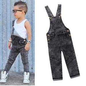 Boys Bib Jeans Child Jumpsuit Jean Overalls Cute Letter Denim Infant Boy Children's Clothing Pants Bodysuit 1 2 3 4 5 Years Y18103008