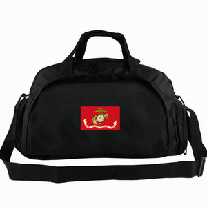 Wholesale USMC duffel bag Marine Corps flag tote United States army way use backpack Banner luggage Trip shoulder duffle Sport sling pack