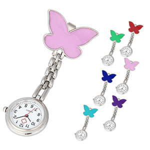 Nurse Clip-on Fob Brooch Pendant Hanging Butterfly Watch Pocket Watch New fashion ladies beautiful clock girl luxury elegant A60