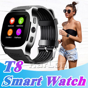 Wholesale Best T8 Smart Watch Pedometer Watches Support SIM TF Card With Camera Sync Call Message Men Women Smartwatch For Android SmartWatch