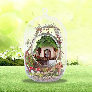 Wholesale DIY Glass Ball Wooden Dollhouse Jungle Witch Farmhouse Style Handcraft Miniature Furniture Micro Landscape Building Doll GN01