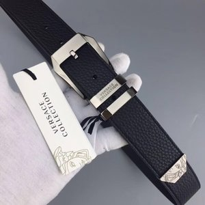 Wholesale buckle High quality leather fashion Smooth pattern picture Belts designer Belt Men and women brand Belt with out box
