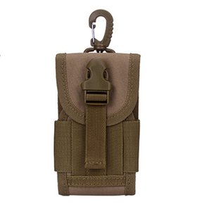 Wholesale High Quality Men Nylon Cell Mobile Phone Case Belt Hook Bags Pouch Military Assault Molle Male Hip Bum Fanny Waist Pack Bag