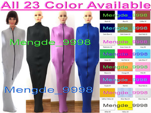 Sexy 23 Color Lycra Spandex Mummy Suit Costumes Sleeping Bags Unisex Sexy Body Bags Sleeping Bags Mummy Costumes With Internal Sleeves M326