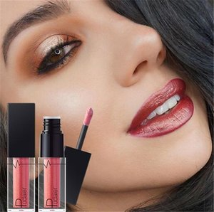 Wholesale 24 Colors Pudaier Sexy Beauty Long Lasting glitter lipstick Gloss matte Liquid Magic Colors Shimmer Lipstick