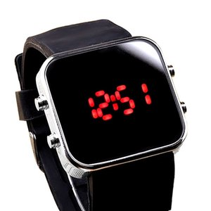 Wholesale Hot Selling2017 Newly Designed HOT Mirror LED Digital Sport Unisex Watch Gift OCT