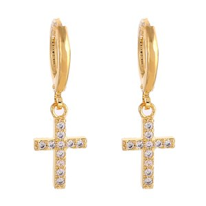 Wholesale Cross Dangle Earrings Religious Jesus Stone Earrings Jewelry Crucifix Christian