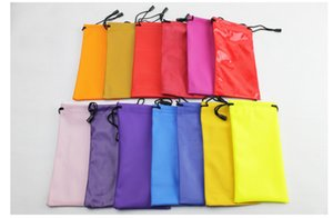 New High Quality Candy Color Plastic Sunglasses Pouch Soft Eyeglasses Bag Glasses Phone bags Drawstring Sunglasses.
