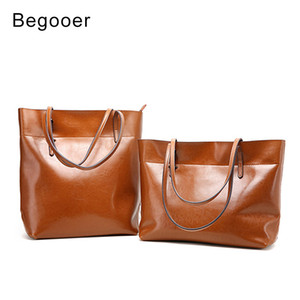Wholesale Brand Real Leather Handbags Ladies Genuine Leather Tote Hand Bags Retro Female Designer Shopper Shoulder Bags For Women 2018