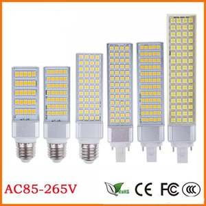 Wholesale Flat light E27 E14 G24 G23 SMD5050 LED corn bulb Horizontal Plug Led light lamp W W W W W W degree V