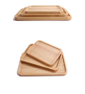 Wholesale Wooden Food Rectangle Serving Tray Dessert Fruit Dinner Dishes Tea Trays Tableware Kitchen Dining Bar Accessories Supplies Sizes