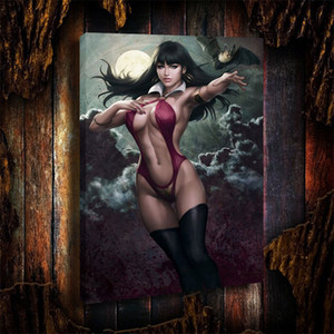 Oil Painting HD Print,Vampirella Premium Format Statue,16x24inch Wall Art Decor for Living Room Home Modern Decoration Framed Unframed