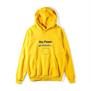 Wholesale 18SS Lemon Yellow Fashion Hoodie High Quality Spring And Autumn Letters Double B Printing Sweater Women And Woman Hoodies