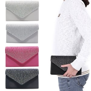 Wholesale Women Double Lace Evening Handbag Envelope Clutch Bag Formal Cocktail Wedding Handbag Purse